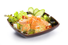 Japanese Salmon Salad Royalty Free Stock Photography