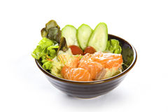Japanese Salmon Salad Stock Images