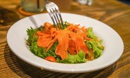 Japanese Salmon Salad Royalty Free Stock Images