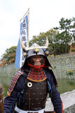 Japanese samurai. KAGAWA, JAPAN - NOVEMBER 20: Katana sword fighters at Marugame Iai Festival, event dedicated to Japanese culture and tradition at Marugame Royalty Free Stock Image
