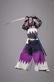 Japanese samurai with katana sword Stock Photo