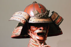 Japanese samurai  mask. Ancient Japanese samurai armour , scary warrior mask Royalty Free Stock Image