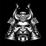 Japanese Samurai Mask. A mean looking Japanese samurai mask and helmet warrior illustration Royalty Free Stock Image
