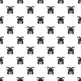 Japanese samurai mask pattern, simple style Stock Images