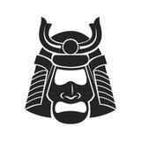 Japanese samurai mask warrior Royalty Free Stock Photo