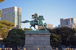 Japanese Samurai Statue Stock Photos