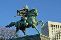 Japanese Samurai Statue Stock Photography