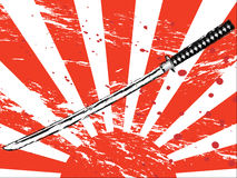 Japanese samurai sword royalty free illustration