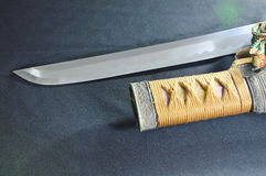 Japanese samurai sword blade and scabbard Stock Images