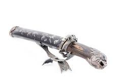 Japanese samurai sword (katana) and sheath isolated Stock Image