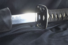 Japanese samurai sword. Stock Photo