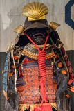 Samurai tradition ancient red armor. Japanese Samurai tradition ancient red armor Stock Photo