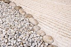 Japanese sand  garden Stock Images