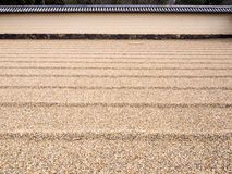 Japanese sand and rock garden background Royalty Free Stock Photos