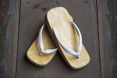 Japanese sandal Royalty Free Stock Photo