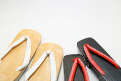 Japanese sandals for men and women. Royalty Free Stock Photo
