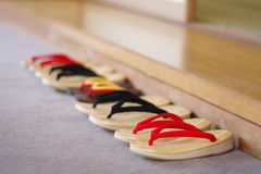 Japanese sandals put in order Stock Images