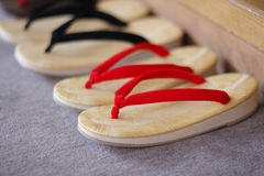 Japanese sandals put in order Royalty Free Stock Images