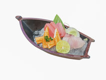 Japanese sashimi boat set Royalty Free Stock Image