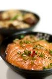 Japanese sashimi rice Royalty Free Stock Images