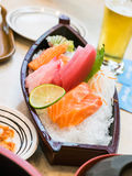 Japanese sashimi Royalty Free Stock Photography