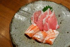 Japanese sashimi set Royalty Free Stock Photos