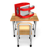 Japanese School Bag On a Desk Royalty Free Stock Images