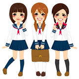 Japanese School Girls Uniform Stock Photos