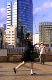 Japanese schoolgirl royalty free stock photography