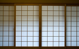 Japanese screen window Royalty Free Stock Photos