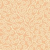 Japanese scroll vector repeat pattern in orange and yellow vector illustration