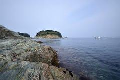 Japanese sea and sunrise Royalty Free Stock Image