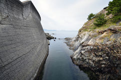 Japanese sea and sunrise Royalty Free Stock Photos