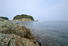 Japanese sea and sunrise Stock Photo