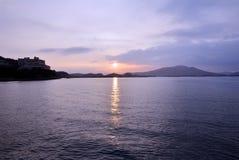 Japanese sea and sunrise. Royalty Free Stock Image