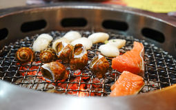 Japanese Seafood BBQ Stock Images