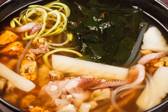 Japanese seafood soup Royalty Free Stock Photography