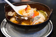 Japanese seafood soup Royalty Free Stock Image
