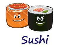Japanese seafood and sushi Stock Image