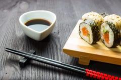 Japanese seafood sushi Royalty Free Stock Image