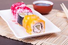 Japanese seafood sushi Stock Photos