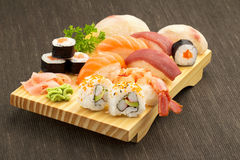 Japanese seafood sushi Royalty Free Stock Photos