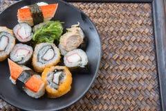 Japanese seafood sushi Royalty Free Stock Photography