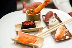 Japanese seafood sushi Stock Images