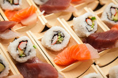 Japanese seafood sushi Royalty Free Stock Images