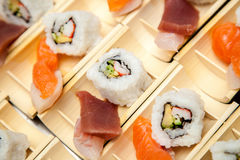 Japanese seafood for sushi Stock Photography