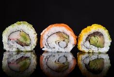 Japanese seafood sushi Royalty Free Stock Images