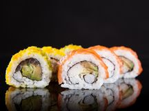 Japanese seafood sushi set Royalty Free Stock Photography