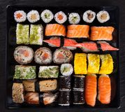 Japanese seafood sushi set Royalty Free Stock Images