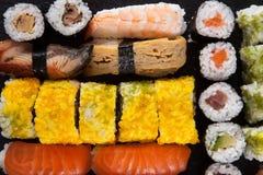 Japanese seafood sushi set Royalty Free Stock Photos